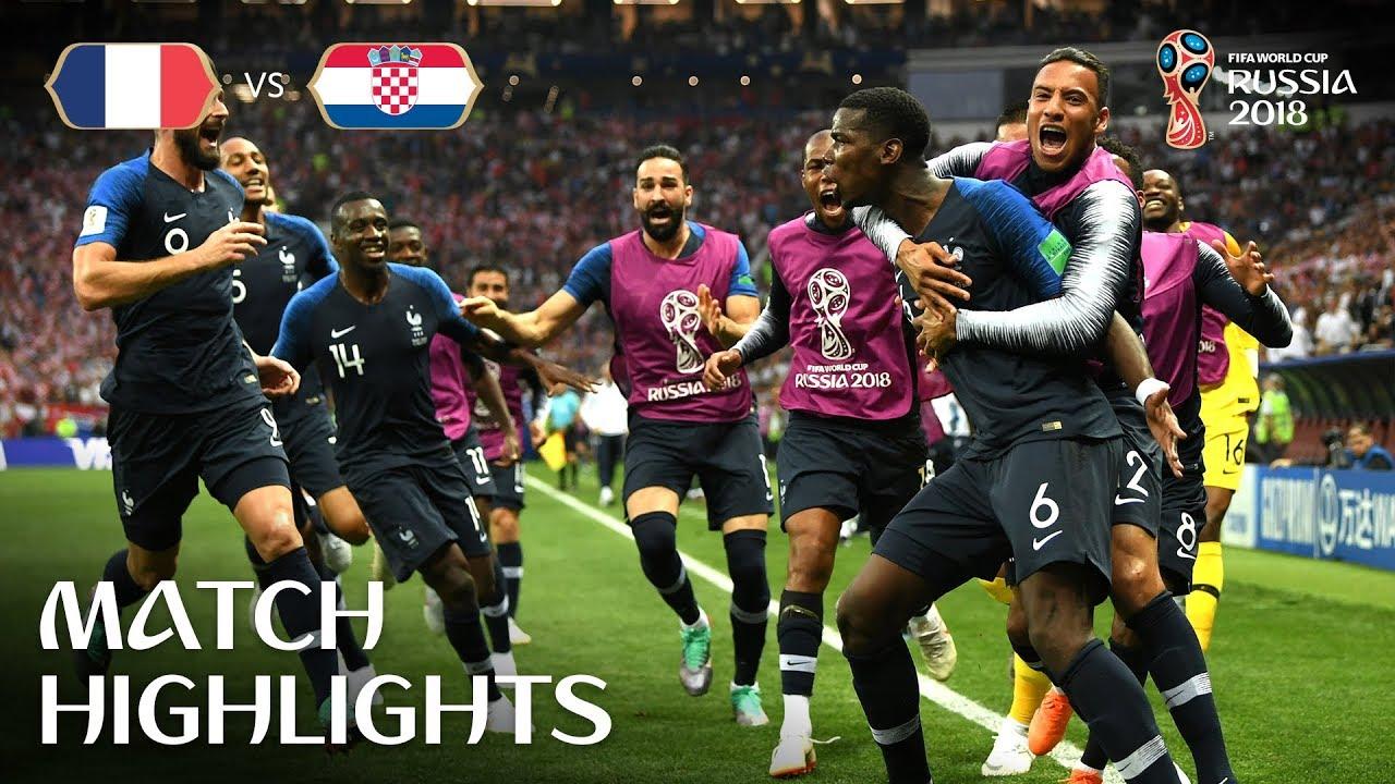France 4 – 2 Croatie ● Finale