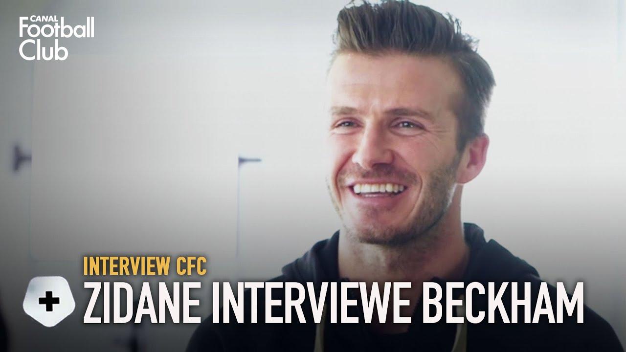 L'interview de David Beckham… par Zinédine Zidane !